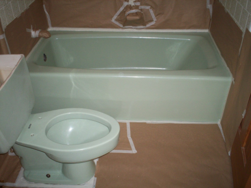 bathtub masked for painting