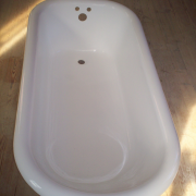 refinish interior of clawfoot bathtub